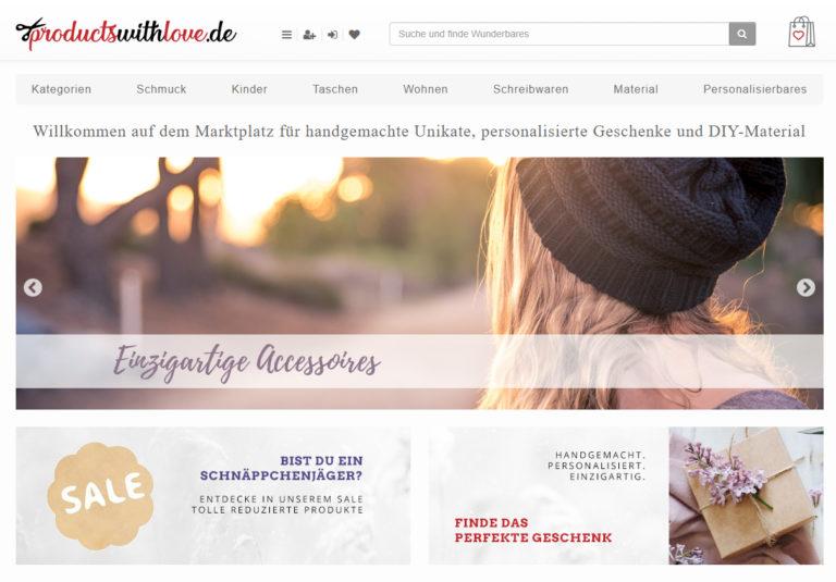 productswithlove.de – Dein Handmade- und Unikate-Marktplatz