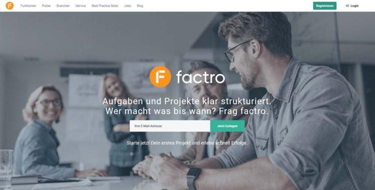 factro – Hilft Dir beim Strukturieren von Aufgaben & Projekten