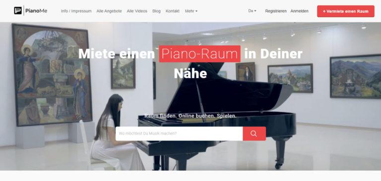 PianoMe – hier findest Du einen Piano-Raum in Deiner Nähe