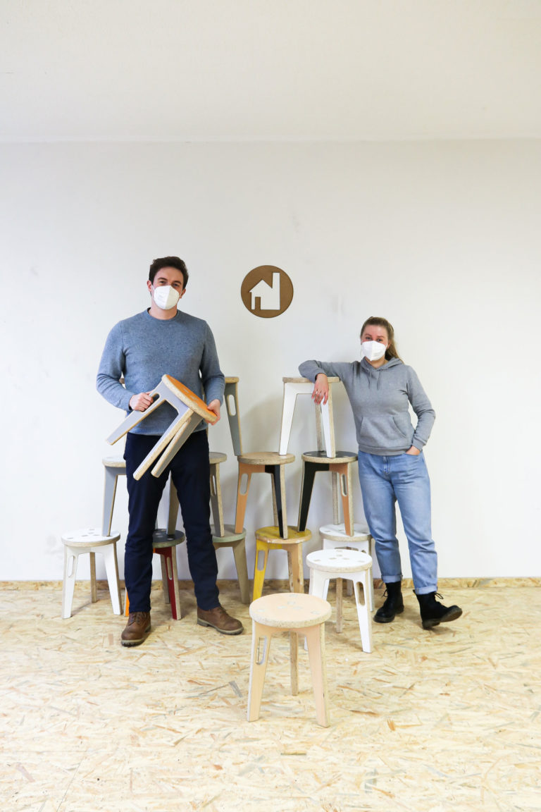 Florian Krohm & Lena Halbedel von der Stadtteilfabrik
